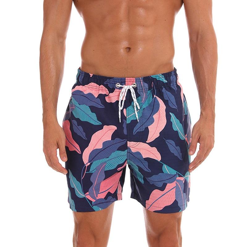 New Men's Shorts Hawaiian Flower Print Boardshorts Casual Shorts Beach Hombre Clothing Joggers Bodybuilding Male Beach Short Men