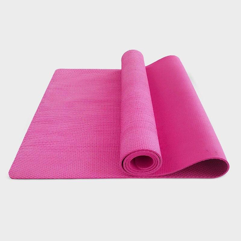 Tapis de yoga en caoutchouc naturel épais environnemental de 5mm qui respecte l'environnement antidérapant pour le tapis de yoga de tissu de maille de gymnase de forme physique