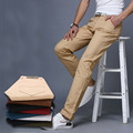 Nueva 9 colores de verano Para Hombre de pantalón de algodón marca de Moda lápiz Pantalones, masculinos Ocasionales Adelgazan los Pantalones Largos, hombre Pantalones Clásicos
