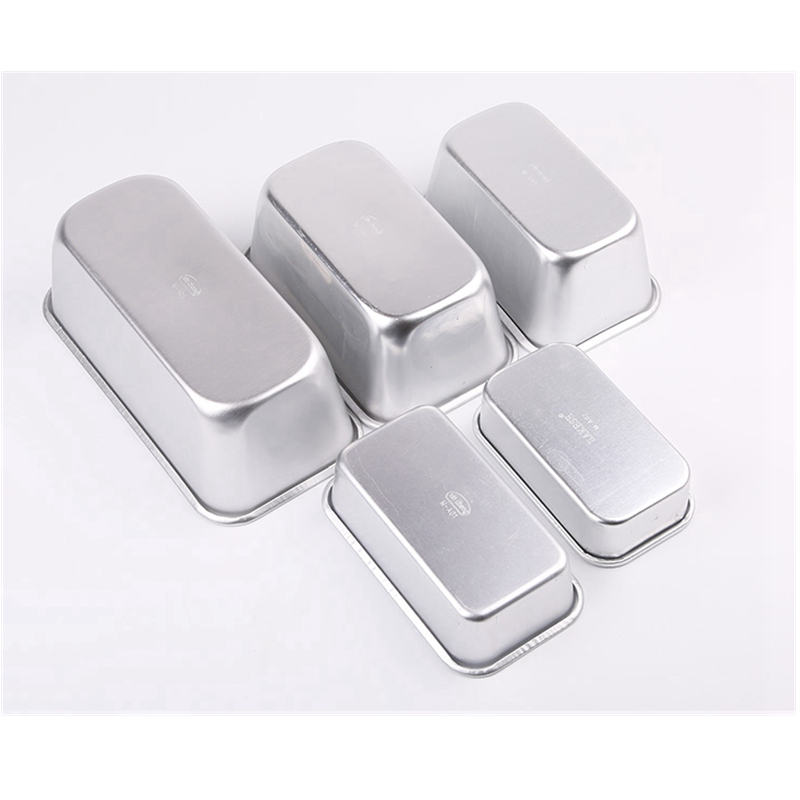 Baking Mold Aluminium Rectangle Cake Tin Baking Dish Bakery Case Mould Cake Decorating Tools 5 Size For Choose in Cake Molds from Home Garden