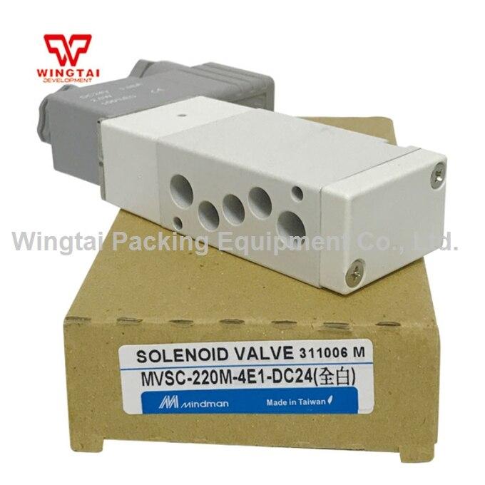 Taiwan Original MINDMAN Gold Solenoid Valve MVSC-220M-4E1 DC24V Hydraulic/solenoid valve new and original mvsc 300 4e1 dc24v ac220v mindman solenoid valve