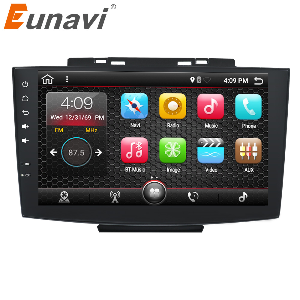 Eunavi 9 Quad core Double 2 Din Android 7 1 Multimedia font b Car b font