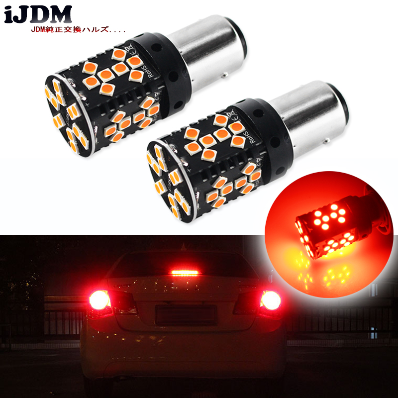 iJDM Car Tail Lights 1157 LED Canbus Error Free Brilliant Red 44SMD P21/5W BAY15d LED Replacement Bulbs For Car Brake/Tail Lig