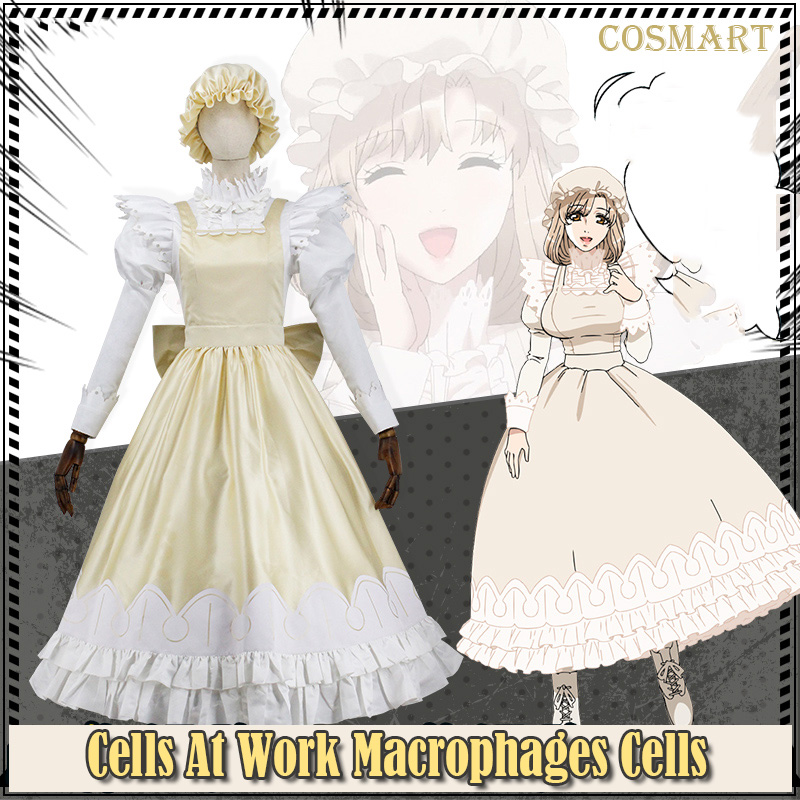 Amine Cells At Work Macrophages Cells Cosplay Costume Hataraku Saibou Maid Dress Uniform Cosplay For Halloween Carnival Freeship