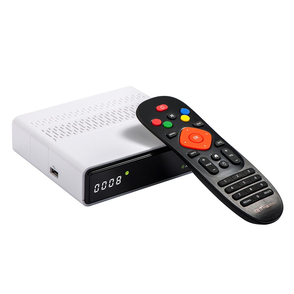 Image 4 - TV Box Android 6.0 2GB+8GB Amlogic S905D DVB S/S2 Satellite Receiver GTmedia GTC Decoder Set top Box For Smart TV with 4K Remote-in Set-top Boxes from Consumer Electronics