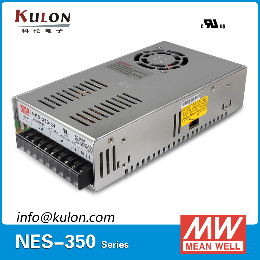 Original Meanwell NES-350-24 AC to DC single output 350W 14.6A 24V Mean well Power Supply NES-350 meanwell 24v 75w ul certificated nes series switching power supply 85 264v ac to 24v dc