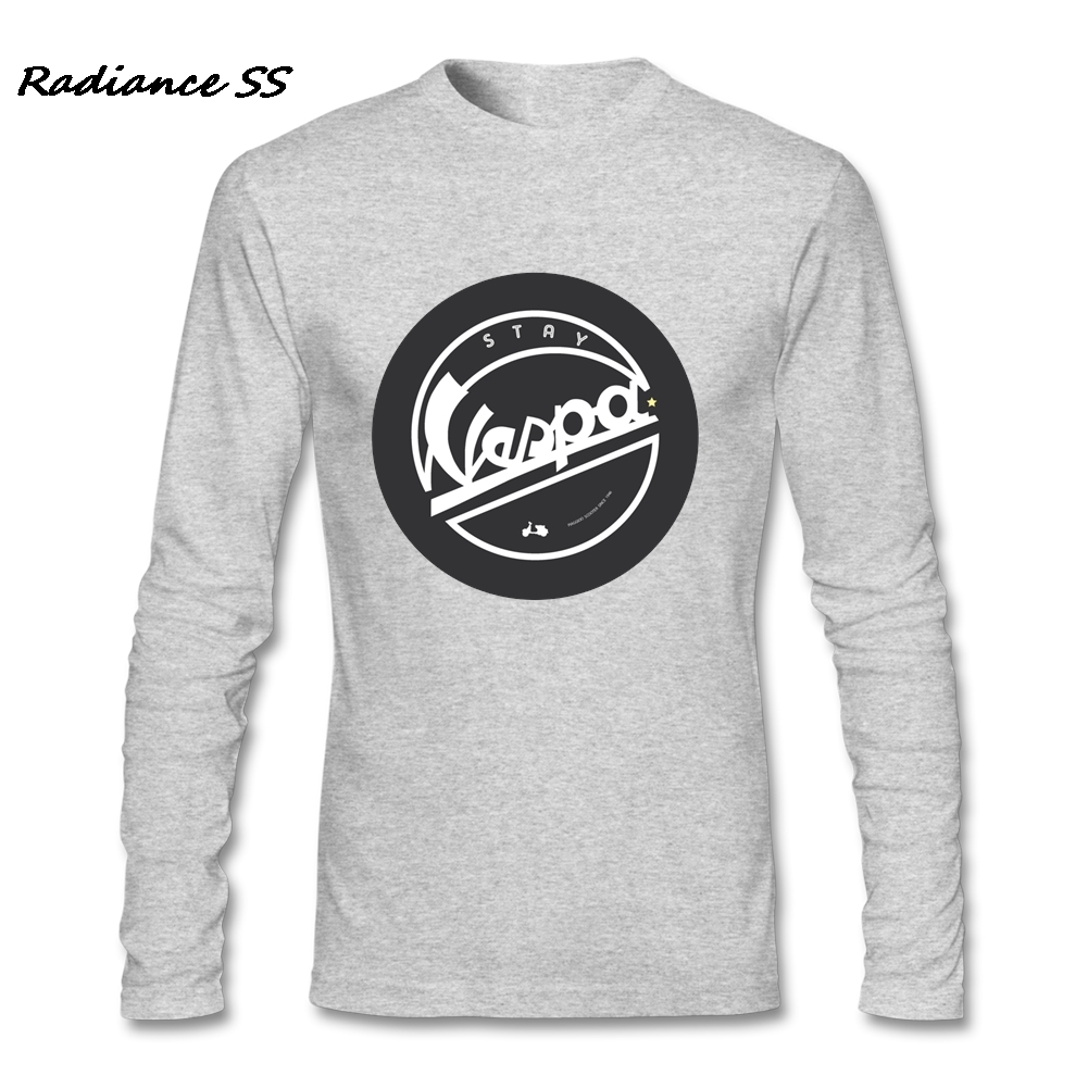 Hot Sale T-Shirt Mens Vespa Motorcycle Tees Graphic Long Sleeve t shirt Homme Clothes Plus Size