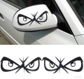 2 pieces 17*6cm rearview mirror black red car styling Animation Eye DIY easy pet waterproof Motorcycle funny design car Stickers
