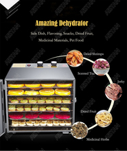 XH01 XH02 6 10 Trays Food Dehydrator Snacks Dehydration Dryer Fruit Vegetable Herb Meat Drying Machine Stainless Steel