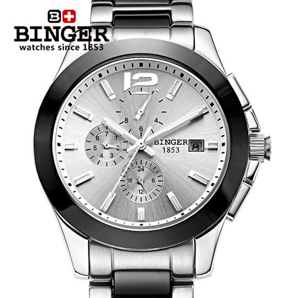Binger Brand relogio Luxury Men Casual watches Unisex vintage couple ceramic waterproof watch fashion Dress Wristwatch