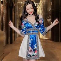 New sexy Japanese kimono dress sleeve low cut splicing foot bath sauna massage technician tooling uniforms