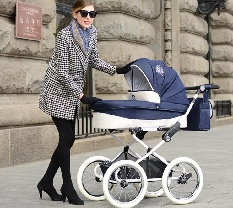Isabell Retro baby stroller Big Wheel snow walker 2 in 1 pram Royal carriageIsabell Retro baby stroller Big Wheel snow walker 2 in 1 pram Royal carriage