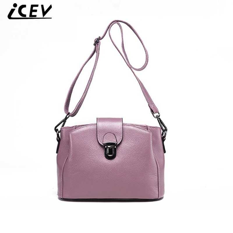 ICEV New Brands Vintage Bucket Female Cow Leather Bags Women Leather Handbags High Quality Genuine Leather Handbags Ladies Totes icev new brands simple classic female cow leather designer handbags high quality genuine leather handbags women leather handbags