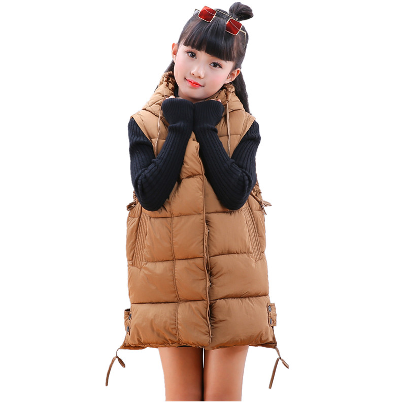 New Children Vests Girls Sleeveless Coats Solid Color Cotton Waistcoats Autumn Winter Child Vest Outwear Kids Jacket Gilet Fille pink solid color off shoulder crop bodycon sweaters vests