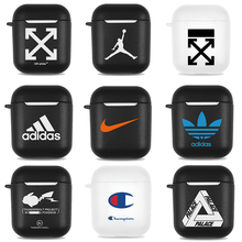 Luxury Street Off Accessories case for Airpods 1 2 Bags Blue