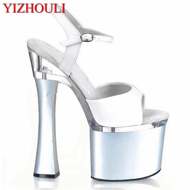 HOT 2018 summer new fashion women sandals wedges shoes High Heel Sandals platform open toe buckle casual shoes rhinestone silver women sandals low heel summer shoes casual platform shiny gladiator sandal fashion casual sapato femimino hot