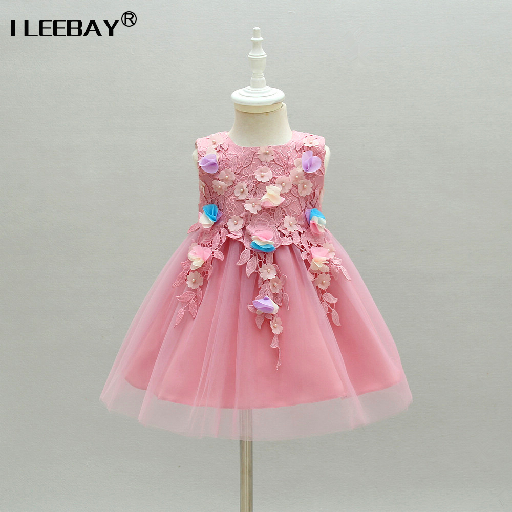 Baby Girls Princess Long Dress Flower Girl Wedding Party Dress ...