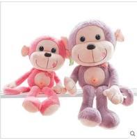 Free shipping 55cm. 70cm.90cm Naughty monkey doll plush toys Cute monkey Chinese valentine's day gift a girl