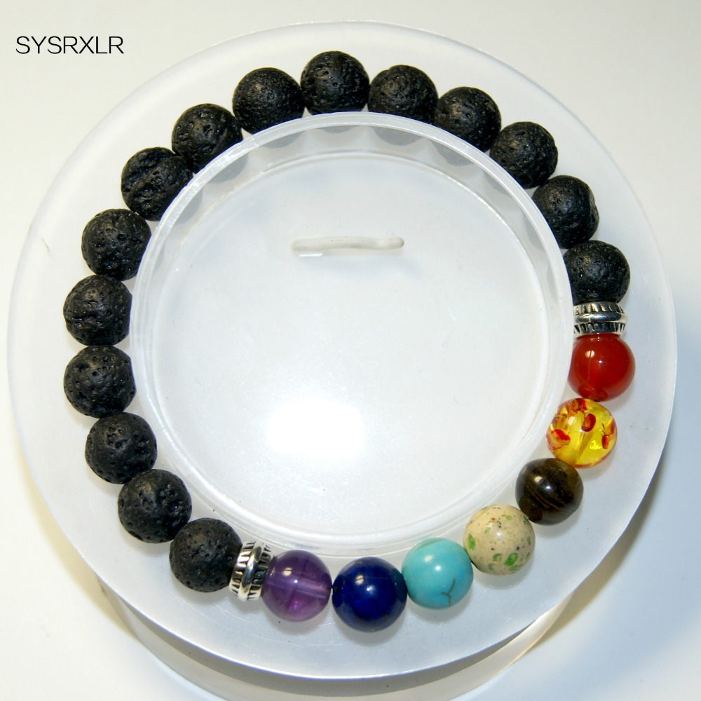 Wholesale Charm 8 MM Natural Stone 7 Chakra Balancing Healing Buddha - Fashion Jewelry - Photo 2