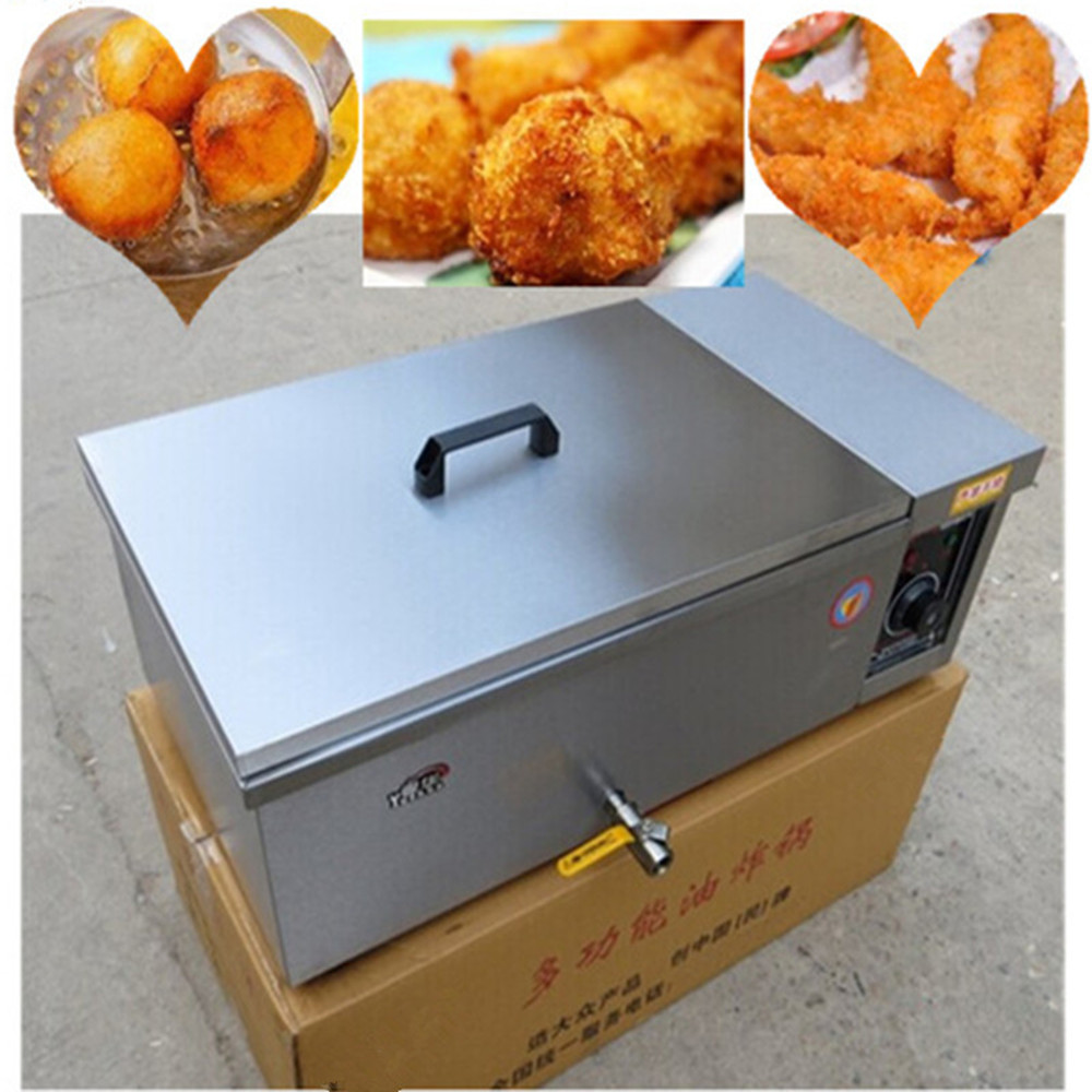 Spiral potato deep fryer electric stainless steel french fries chicken frying machine for home use  ZF  220v 12l electric deep fryer for spiral potato twister potato tornado potato fry potato churros chicken