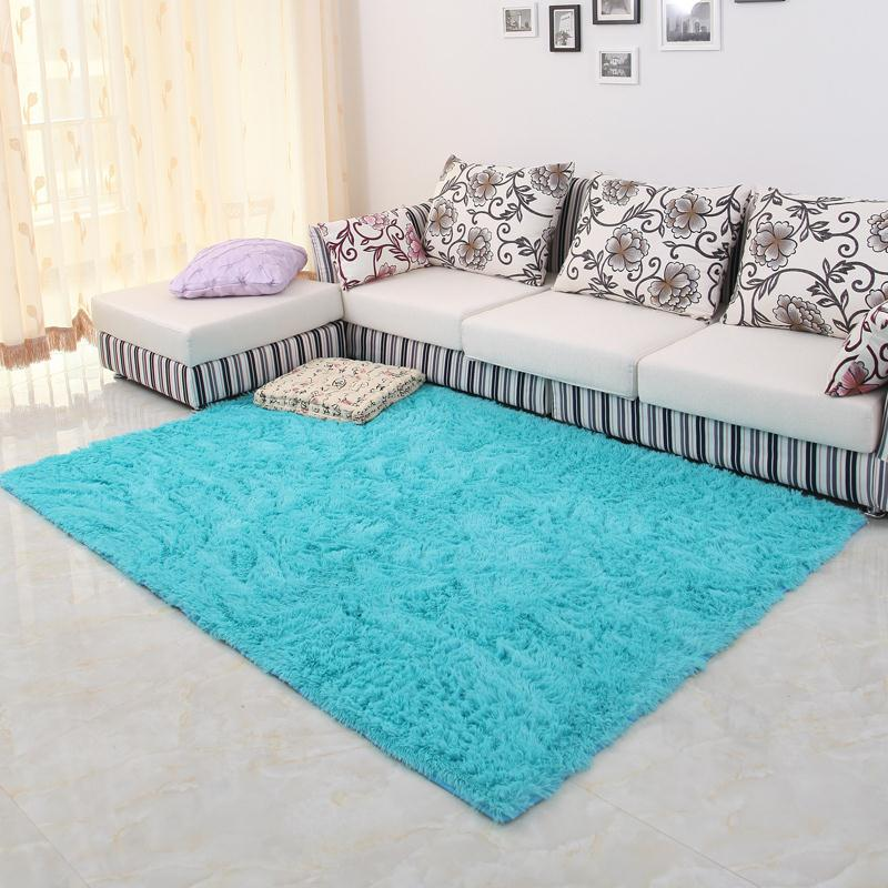 Big Bedroom Rugs For Cheap: 150*200cm Large Size Plush Shaggy Soft Carpet Area Rugs