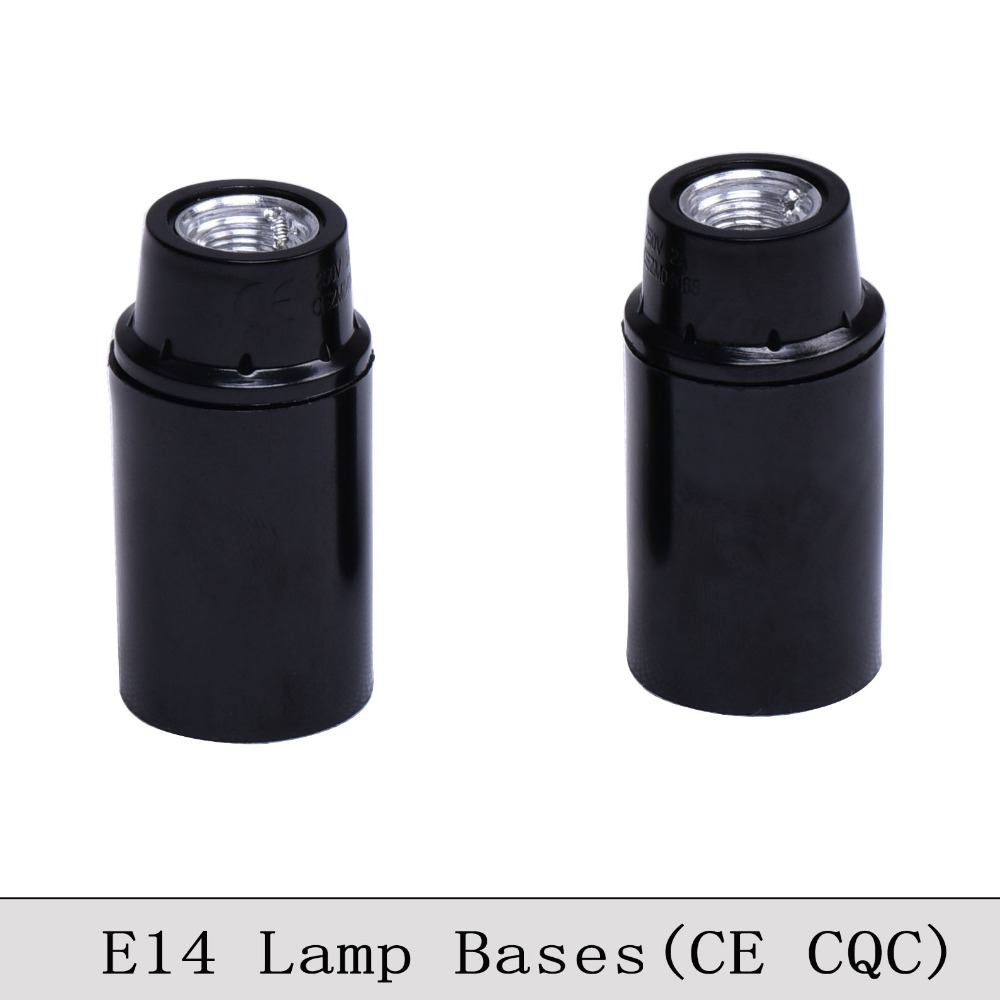 <font><b>E14</b></font> CE/CQC Bakelite <font><b>Lamp</b></font> Holder Retro <font><b>E14</b></font> Screw Bulb <font><b>Lamp</b></font> <font><b>Socket</b></font> Vintage Edison Pendant Light <font><b>Lamp</b></font> Bases Self Lock 6PCS/Lot image