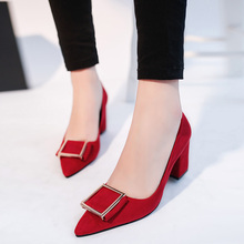 Red High Heels Pointed Toe Classics Women Pumps Patent Leather Ladies Shoes Women's Pumps Chaussure Femme Zapatos Mujer