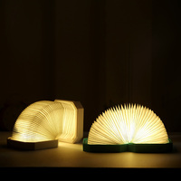 Foldable Book Lamp LED Table Lamp Bluetooth Speaker Folding Organ Light Desk Lamp Dimming USB Rechargeable Design Night Light