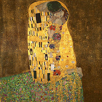 The Kiss Classic Oil Paintings Reproduction Modern Canvas Artwork on Canvas Wall Art for Living Room hand painted