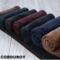 2017 winter spring men thick trousers brand red blue loose elastic mens corduroy pants long straight business casual dress 566