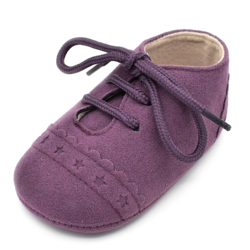 Infant Baby Girls Boys Spring Lace Up Soft Leather Shoes Toddler Sneaker Non-slip Shoes Casual Prewalker Baby Shoes 35