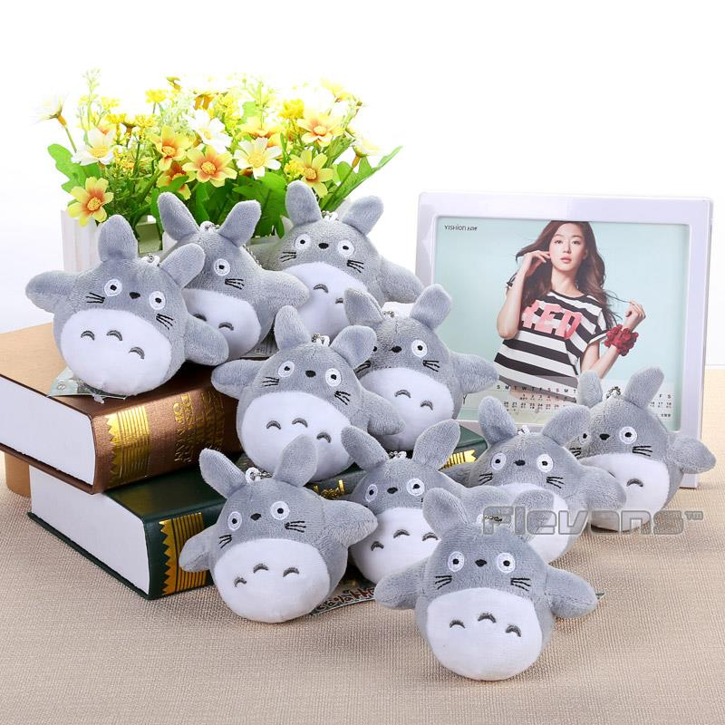 10pcs/lot My Neighbor Totoro Cat Buss Mini Plush Toys Soft Stuffed Dolls 4 10cm hot sale 12cm foreign chavo genuine peluche plush toys character mini humanoid dolls