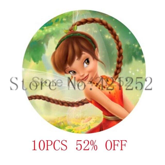 Pixie Hollow Fairy Glas Foto Cabochon Ketting sleutelhanger bladwijzer manchetknoop oorbel