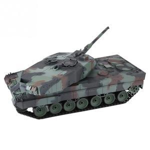 Image 4 - הנג ארוך 2.4GHz RC נמר טנק 1/16 שלט רחוק גרמנית נמר 2 A6 קרב טנק העולם סימולציה קול טנק דגם צעצוע