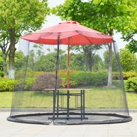 Hot Selling Umbrella Cover Mosquito Netting Screen For Patio Table Umbrella Garden Deck Furniture Zippered Mesh Enclosure Cover