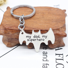 My Dad My Superhero Keychain