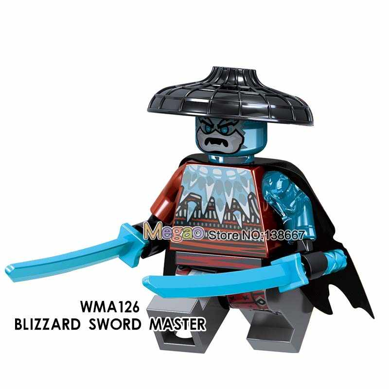 Gold Pyro งูน้ำแข็ง Akita จักรพรรดิ Char ทั่วไป Vex Archer ดาบ Master Building Blocks อาวุธของเล่นเด็ก