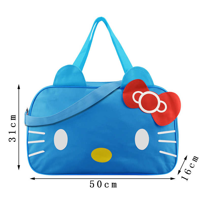 ... Cute Hello Kitty Handbags Ladies Girl s Women s Travel Messenger Bags  Dual-use Organizer Shoulder Accessories ... bbec80601779d