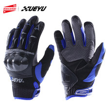 XUEYU Leather Motorcycle Gloves Motocross Racing Gloves Moto Motorbiker Gloves Full Finger Luva Motociclista Guanti Motocross 02(China)