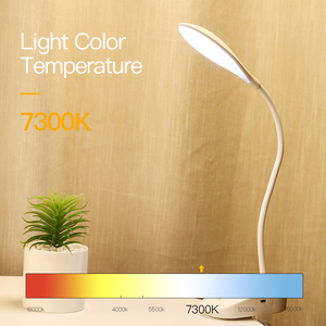Image 3 - YAGE 7300K USB Table Lamp with Clip 1200mAh 18650 Rechargeable Led Desk Lamp Touch Lampe Flexo Bureau Study Night Light Table