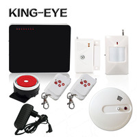 433mhz Quad Band Wireless Gsm Alarm System Home Security Wired Siren Infrared Sensor Smoke Detector Fire