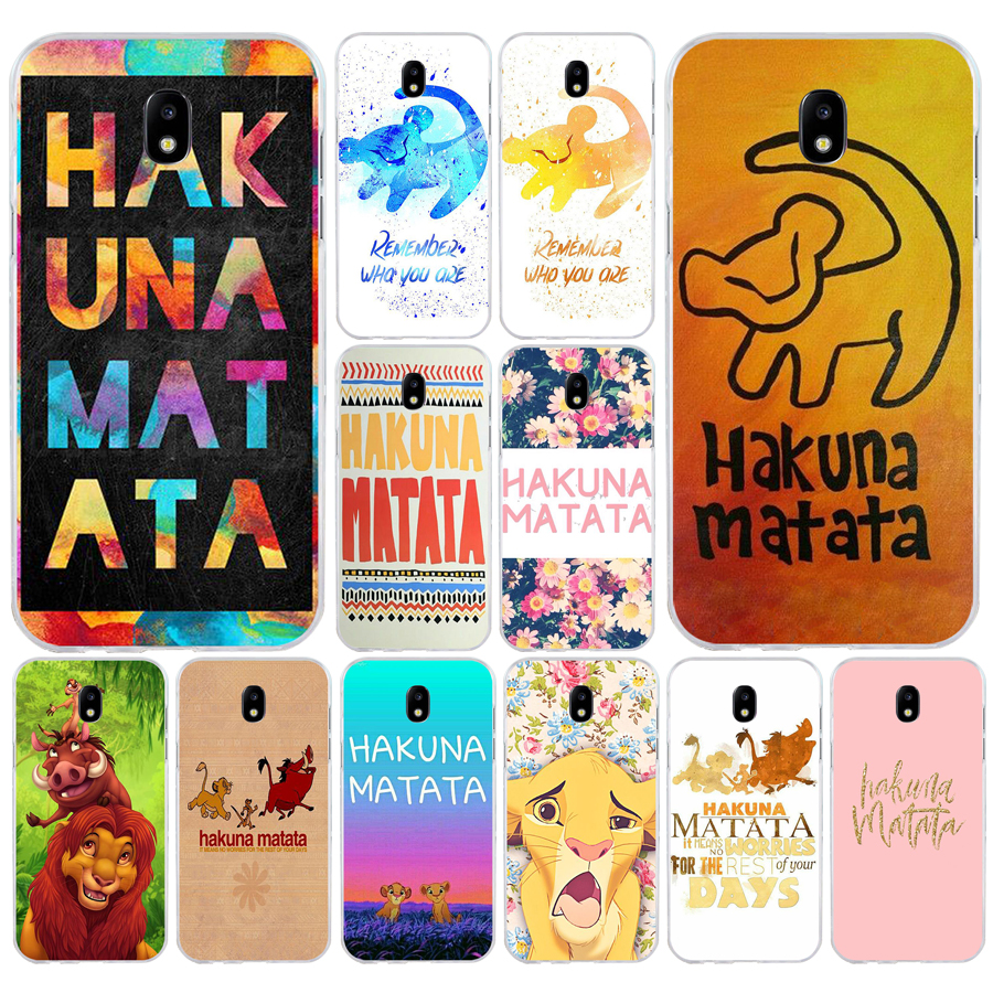 110H <font><b>hakuna</b></font> <font><b>matata</b></font> The <font><b>Lion</b></font> <font><b>King</b></font> Soft Silicone Tpu Cover phone Case for Samsung j3 j5 j7 2016 2017 a3 2016 a5 2017 a6 2018 image