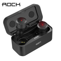 ROCK Twins True Wireless Earbuds Mini Bluetooth Earphone In Ear Stereo Headset TWS With Charging Box