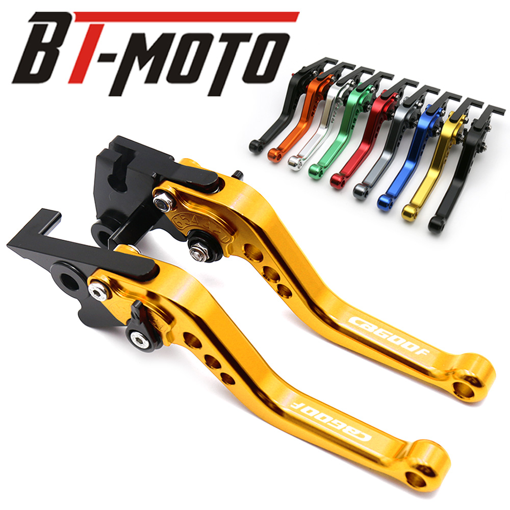 New Adjustable Short Motorcycle Brake Clutch Levers For <font><b>HONDA</b></font> CB600F CB <font><b>600</b></font> F <font><b>Hornet</b></font> 2007-2013 <font><b>2008</b></font> 2009 2010 2011 2012 image