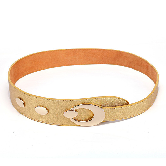 100% correa piel genuina para mujeres europeas y americanas de la decoración de la hebilla mujeres del cuero del Cowskin cinturón ancho cinturón