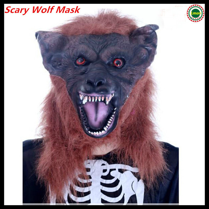 Free shipping Latex Scary Halloween hats Christmas caps Wolf Head Masks City Party Masks Halloween Costumes Carnival Animal Mask