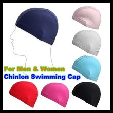 Nylon Dual Lines Protect Ears Long Hair Sports Siwm Pool Swimming Hat Adults Boy Girl Sporty Ultrathin Children Bathing Caps
