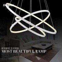 Modern Minimalist Led Chandelier Creative Artistic Personality Restaurant Room Circle Ring Light Acrylic Lamp