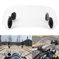 Motorcycle Risen Adjustable Windscreen Air Deflector Windshield Wind Screen Spoiler For Triumph Suzuki Yamaha Honda Kawasaki KTM