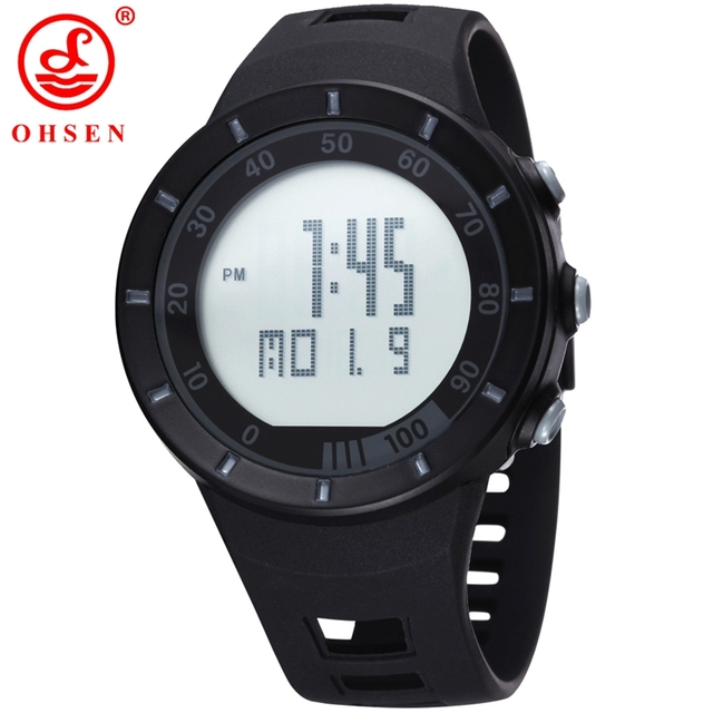 OHSEN Brand Men Digital Watch led 2016 Unisex Style Sports Military Watches Cale